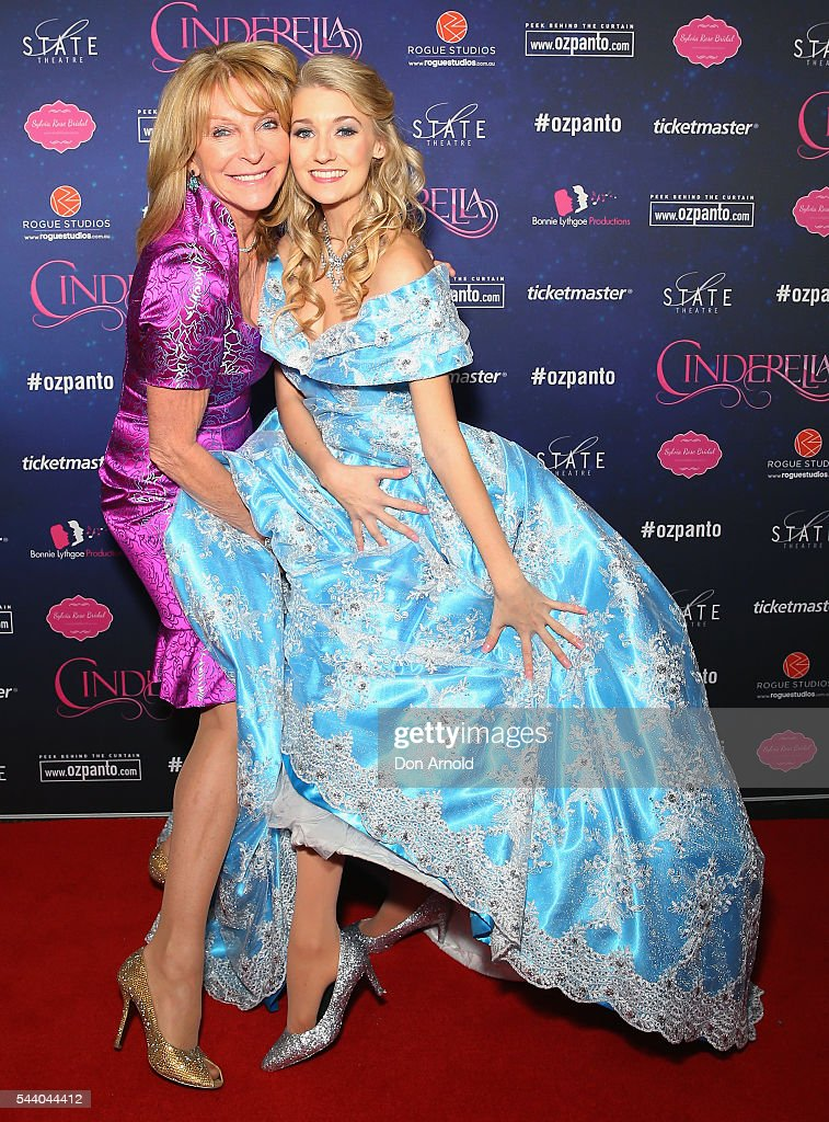 Bonnie Lythgoe and Jaime Hadwen arrive ahead of opening night of Cinderella at State Theatre on July 1, 2016 in Sydney, Australia.