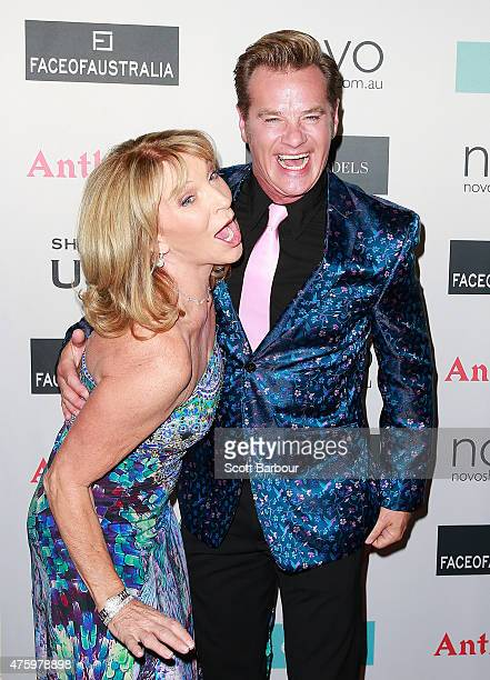 Bonnie Lythgoe and Richard Reid arrive at the 2015 Miss Universe Australia Final and Crowning Ceremony at the Sofitel on June 5 2015 in Melbourne...
