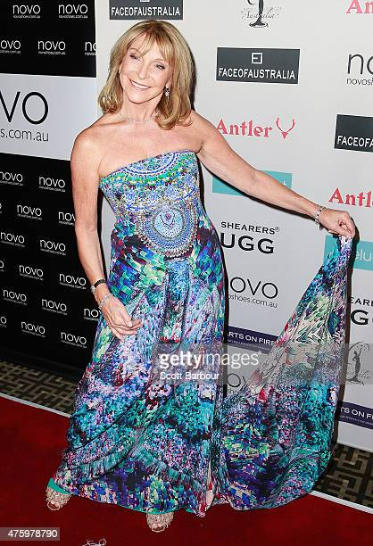 Bonnie Lythgoe arrives at the 2015 Miss Universe Australia Final and Crowning Ceremony at the Sofitel on June 5 2015 in Melbourne Australia