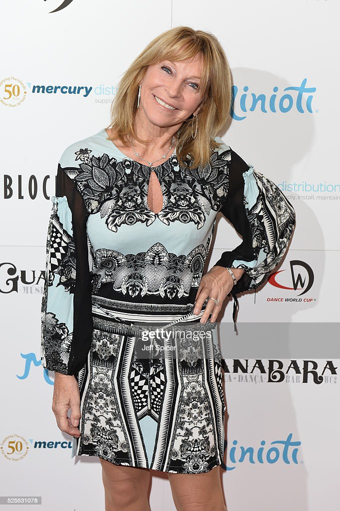 Bonnie Lythgoe arrives at the launch of the 2016 annual BLOCH Dance World Cup on April 28, 2016 in London, England.