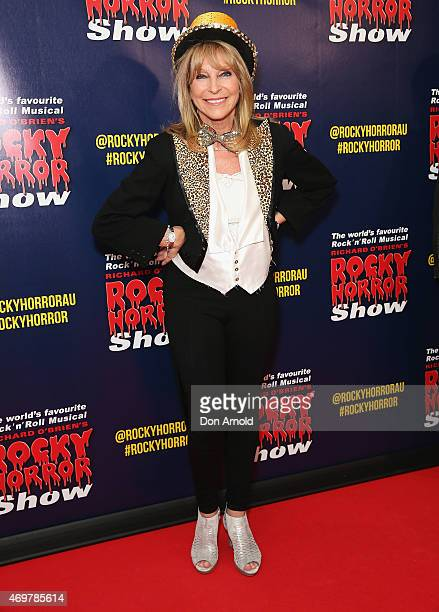 Bonnie Lythgoe arrives at the opening night of the Rocky Horror Picture Show at the Lyric Theatre Star City on April 15 2015 in Sydney Australia