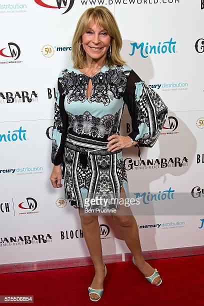 Bonnie Lythgoe attends as Kimberly Wyatt launches the 2016 annual BLOCH Dance World Cup on April 28 2016 in London England