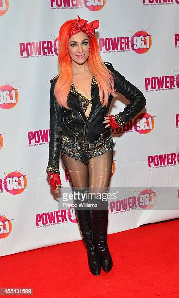 Bonnie McKee backstage at Power 961's Jingle Ball 2013 at Phillips Arena on December 11 2013 in Atlanta Georgia