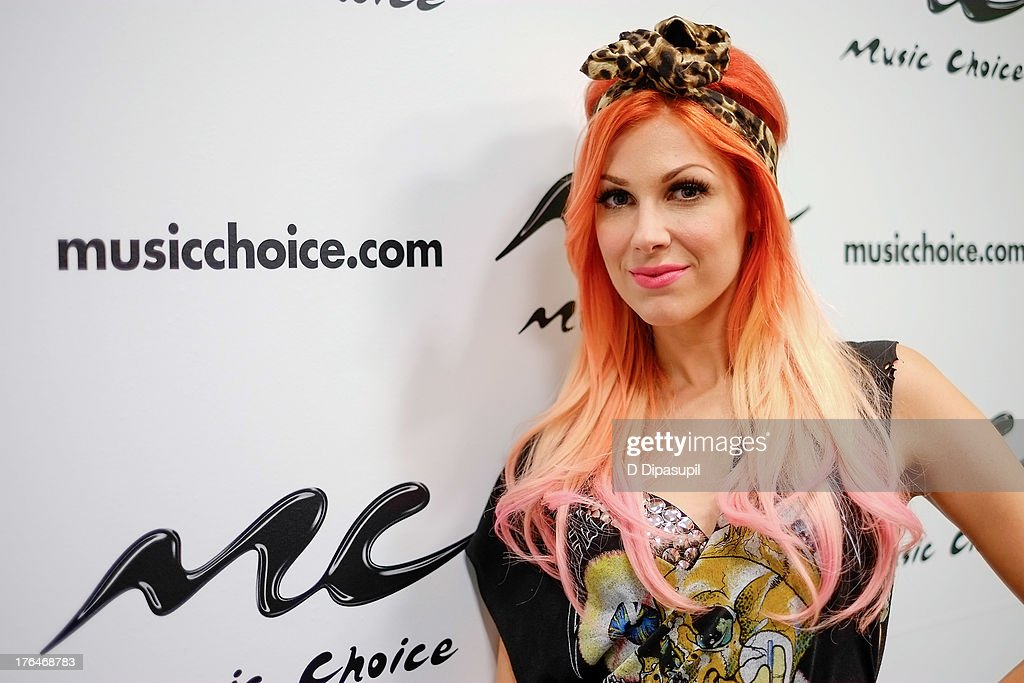 Bonnie McKee visits Music Choice on August 13 2013 in New York City