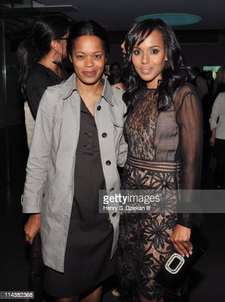 Bonnie Morrison and actress Kerry Washington attend World Ocean Day 2011 celebrated by La Mer and Oceana at Affirmation Arts on May 18 2011 in New...