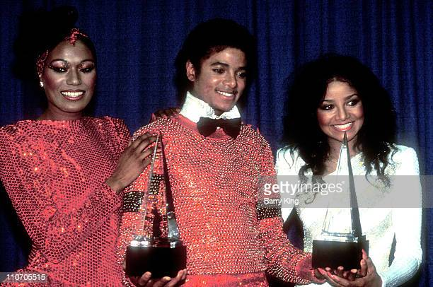 Bonnie Pointer Michael Jackson LaToya Jackson at the American Music Awards