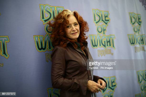 Bonnie Rait backstage at the Isle of Wight Festival in Seaclose Park Newport Isle of Wight PRESS ASSOCIATION Photo Picture date Saturday June 15 2013...