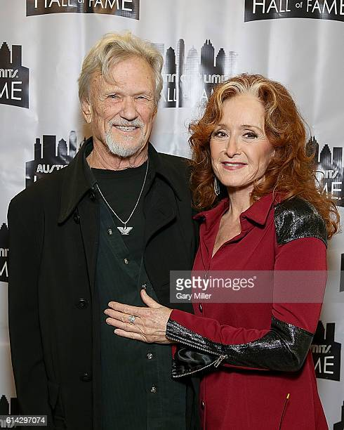 Bonnie Raitt and Kris Kristofferson attend the Austin City Limits Hall of Fame taping at ACL Live on October 12 2016 in Austin Texas