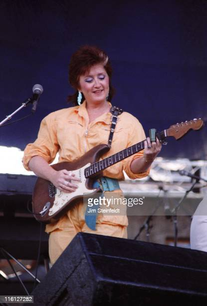 Bonnie Raitt and performs on Navy Island in St Paul Minnesota on August 19 1984
