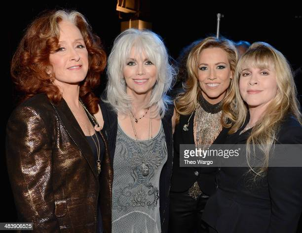 Bonnie Raitt Emmylou Harris Sheryl Crow and Stevie Nicks attend the 29th Annual Rock And Roll Hall Of Fame Induction Ceremony at Barclays Center of...