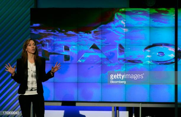 Bonnie Ross general manager of Halo developer for 343 Industries speaks at the Microsoft Corp Xbox E3 media event in Los Angeles California US on...