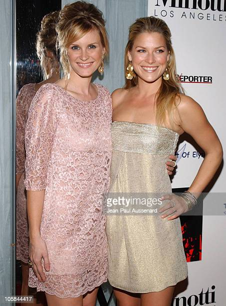 Bonnie Somerville and Ali Larter during Kirsten Dunst Hosts The Art of Elysium Annual Art Benefit Arrivals and Inside at Minotti in Los Angeles...