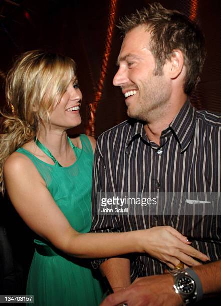 Bonnie Somerville and Michael Vartan during Entertainment Weekly Magazine 4th Annual PreEmmy Party Inside at Republic in Los Angeles California...