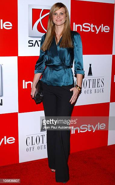 Bonnie Somerville during In Style Presents Saturn and 'Clothes Off Our Back' Charity Event Arrivals at Republic in Los Angeles California United...