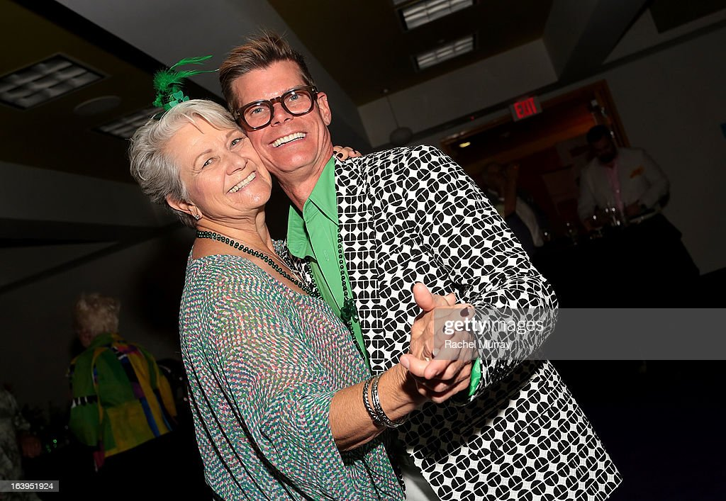 Bonnie Strand (L) and Renowned Beverly Hills hairstylist Lenny Strand attend the Bash To Banish Bullying Benefiting It Gets Better, A Matrix Chairs Of Change Event - Day 2at Saguaro Hotel on March 17, 2013 in Palm Springs, California.