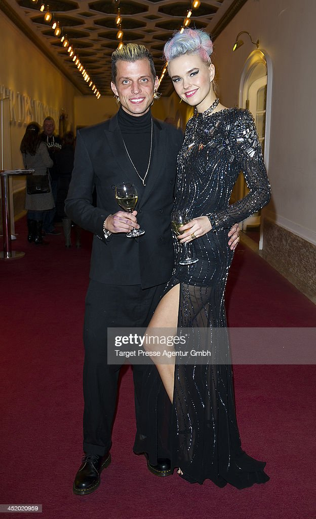 Bonnie Strange and her husband Carl Jakob Haupt attend the Artists Against Aids Gala 2013 (Kuenstler gegen Aids Gala 2013) at Stage Theater on November 25, 2013 in Berlin, Germany.