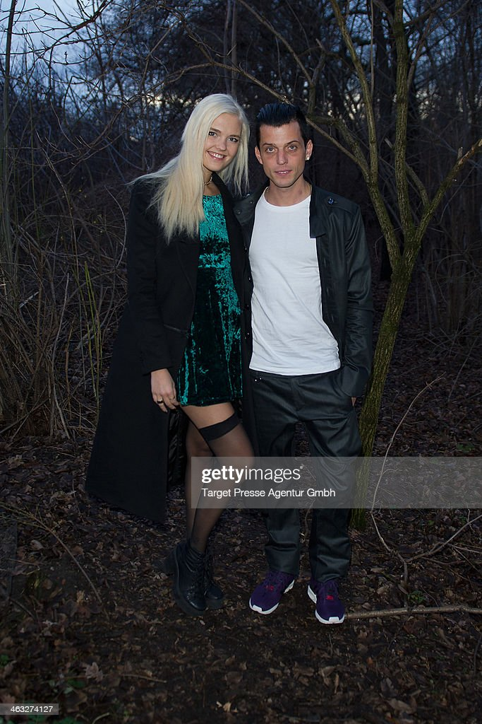 Bonnie Strange and her husband Carl-Jakob Haupt arrive to the Irene Luft show during Mercedes-Benz Fashion Week Autumn/Winter 2014/15 at Brandenburg Gate on January 17, 2014 in Berlin, Germany.