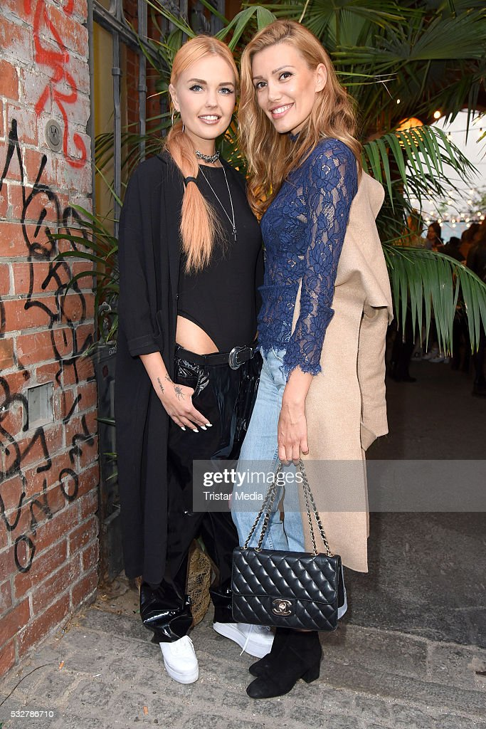 Bonnie Strange and Jackie Hide attend the 'Into the Wild' ASOS Magazin Launch Party on May 19 2016 in Berlin Germany