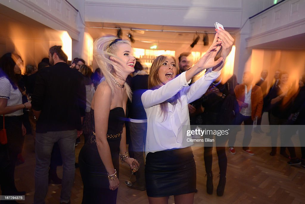 Bonnie Strange and Senna Guemmour attend the Deichmann Shoe Step of the Year 2013 at Curio Haus on November 7, 2013 in Hamburg, Germany.