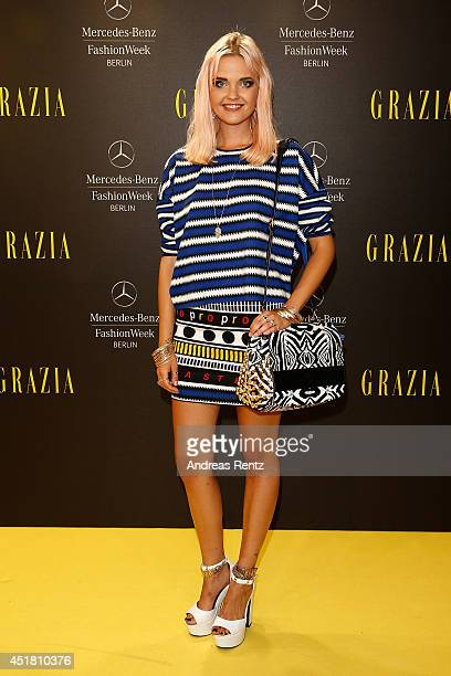 Bonnie Strange arrives for the Opening Night by Grazia fashion show during the MercedesBenz Fashion Week Spring/Summer 2015 at Erika Hess Eisstadion...