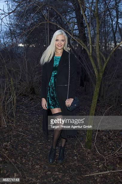 Bonnie Strange arrives to the Irene Luft show during MercedesBenz Fashion Week Autumn/Winter 2014/15 at Brandenburg Gate on January 17 2014 in Berlin...