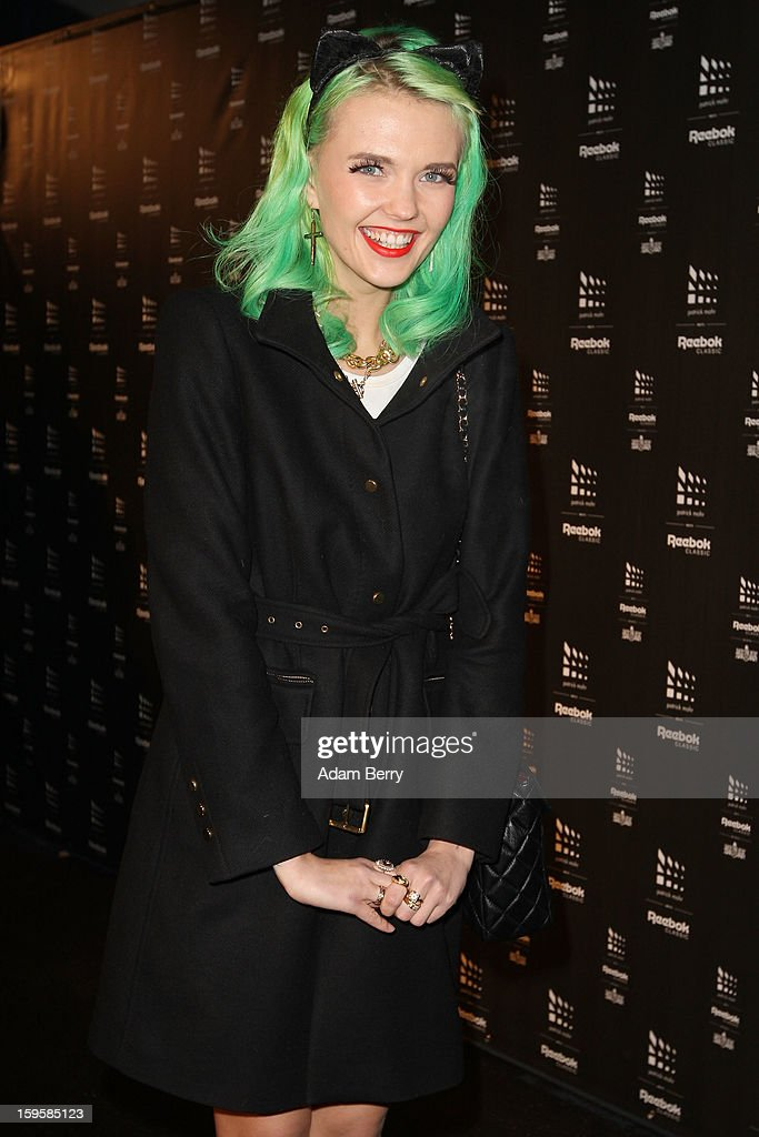 Bonnie Strange attends Patrick Mohr Meets Reebok Classic Autumn/Winter 2013/14 fashion show during Mercedes-Benz Fashion Week Berlin at The Block on January 16, 2013 in Berlin, Germany.