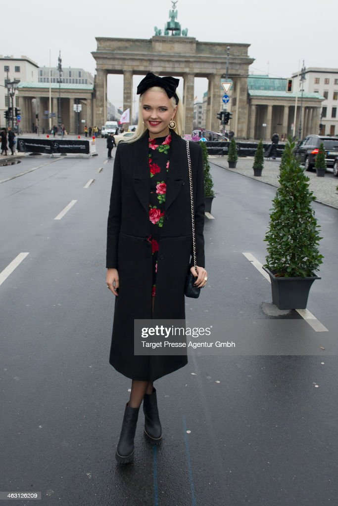 Bonnie Strange attends the Glaw show during Mercedes-Benz Fashion Week Autumn/Winter 2014/15 at Brandenburg Gate on January 16, 2014 in Berlin, Germany.