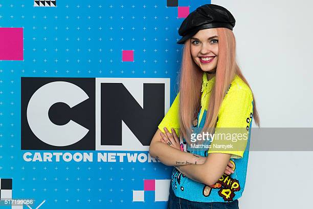 Bonnie Strange attends the theme song recording for the Cartoon Network animation series 'Die Powerpuff Girls' at a dubbing studio on March 17 2016...