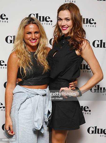 Bonnie Sveen and Demi Harman arrive at the Glue Store summer launch party at Simmer on the bay on November 12 2014 in Sydney Australia