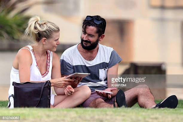Bonnie Sveen and Nathan Gooley are seen on February 11 2016 in Sydney Australia