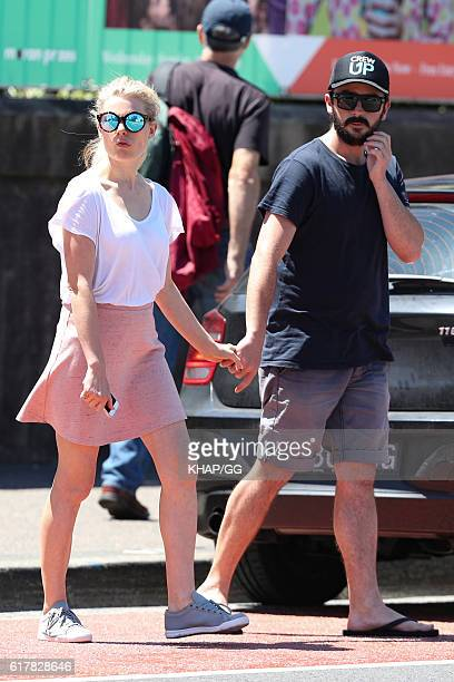 Bonnie Sveen and Nathan Gooley are seen on October 25 2016 in Sydney Australia