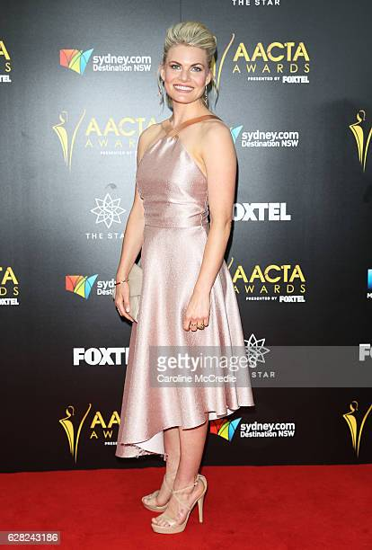 Bonnie Sveen arrives ahead of the 6th AACTA Awards Presented by Foxtel at The Star on December 7 2016 in Sydney Australia