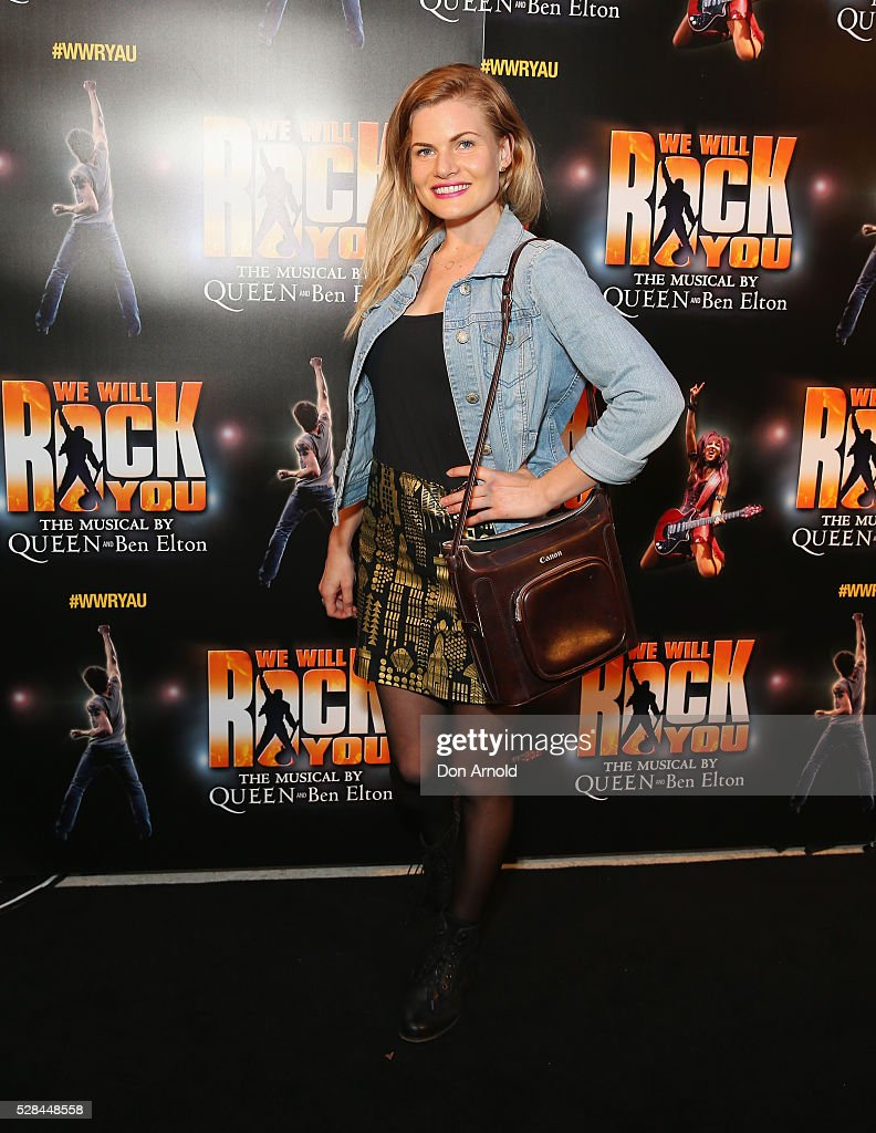 Bonnie Sveen arrives ahead of We Will Rock You Opening Night at Lyric Theatre, Star City on May 5, 2016 in Sydney, Australia.
