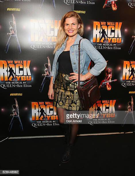 Bonnie Sveen arrives ahead of We Will Rock You Opening Night at Lyric Theatre Star City on May 5 2016 in Sydney Australia