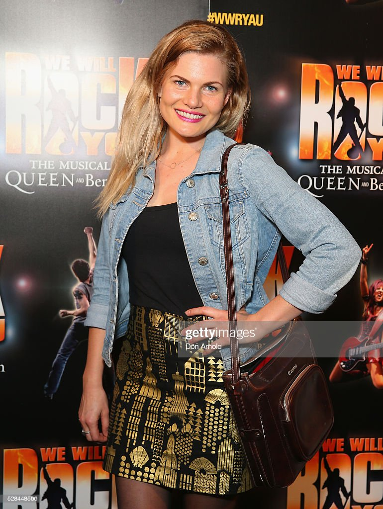 <a gi-track='captionPersonalityLinkClicked' href=/galleries/search?phrase=Bonnie+Sveen&family=editorial&specificpeople=7179357 ng-click='$event.stopPropagation()'>Bonnie Sveen</a> arrives ahead of We Will Rock You Opening Night at Lyric Theatre, Star City on May 5, 2016 in Sydney, Australia.
