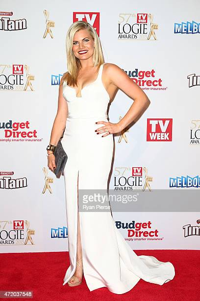 Bonnie Sveen arrives at the 57th Annual Logie Awards at Crown Palladium on May 3 2015 in Melbourne Australia