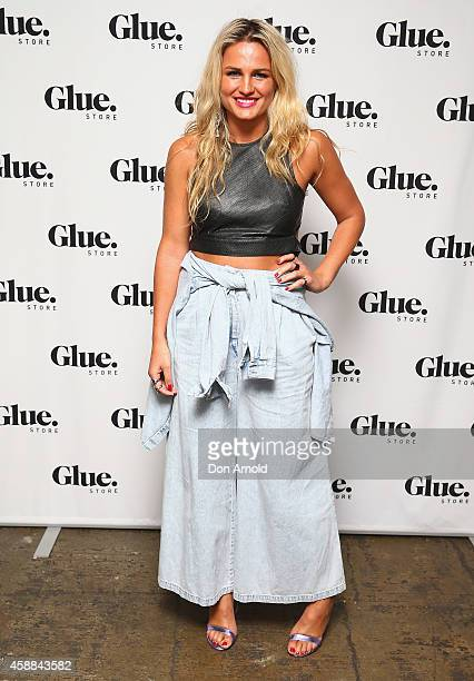 Bonnie Sveen arrives at the Glue Store summer launch party at Simmer on the bay on November 12 2014 in Sydney Australia