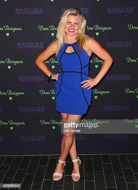 Bonnie Sveen attends the Dom Perignon Masquerade Ball At Marquee Nightclub on August 2 2014 in Sydney Australia