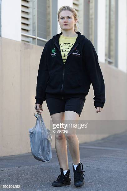 Bonnie Sveen sighted in Sydney on August 11 2016 in Sydney Australia