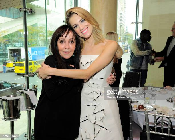 Bonnie Timmermann and Allison Williams attend Universal Pictures' 'Get Out' Peggy Siegel Luncheon at Lincoln Ristorante on November 15 2017 in New...