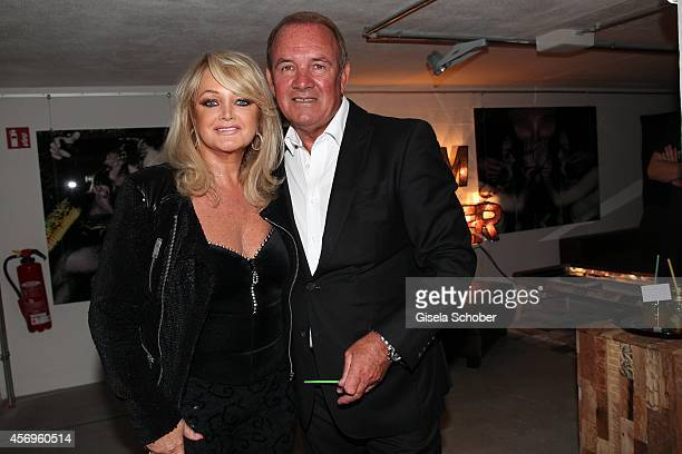 Bonnie Tyler and her husband Robert Sullivan attend the grand opening of KARE Kraftwerk on October 9 2014 in Munich Germany