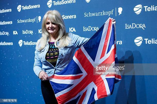 Bonnie Tyler of the United Kingdom attends a photocall for the Eurovision Song Contest 2013 at Malmo Arena on May 15 2013 in Malmo Sweden