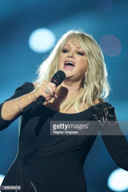 Bonnie Tyler of the United Kingdom performs on stage during the grand final of the Eurovision Song Contest 2013 at Malmo Arena on May 18 2013 in...