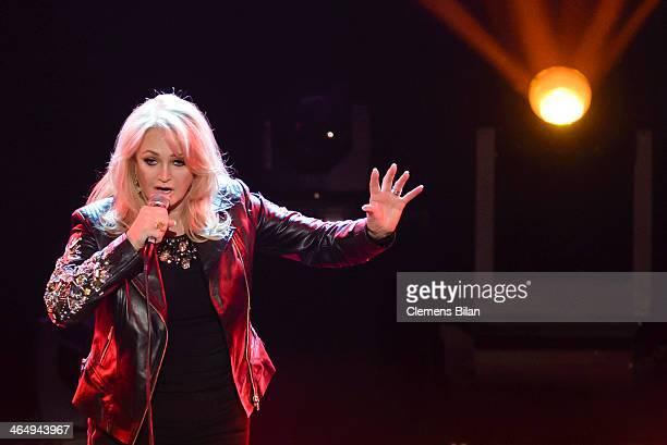 Bonnie Tyler performs at the taping of 'Back To School Gottschalks grosses Klassentreffen' Show on January 24 2014 in Berlin Germany