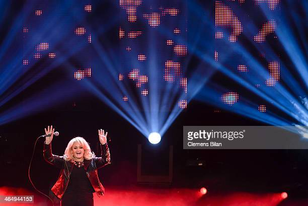 Bonnie Tyler performs at the taping of 'Back To School Gottschalks grosses Klassentreffen' Show on January 24 2014 in Berlin Germany
