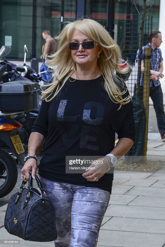 <a gi-track='captionPersonalityLinkClicked' href=/galleries/search?phrase=Bonnie+Tyler&family=editorial&specificpeople=617492 ng-click='$event.stopPropagation()'>Bonnie Tyler</a> sighted at BBC Radio 2 studios on April 26, 2013 in London, England.