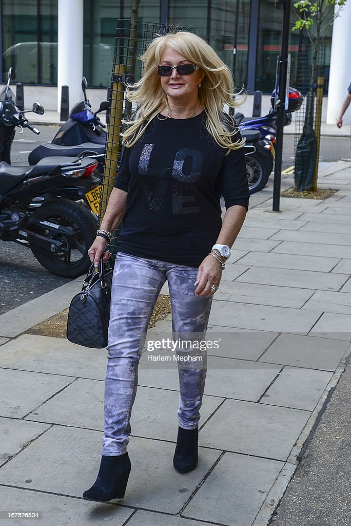 Bonnie Tyler sighted at BBC Radio 2 studios on April 26, 2013 in London, England.