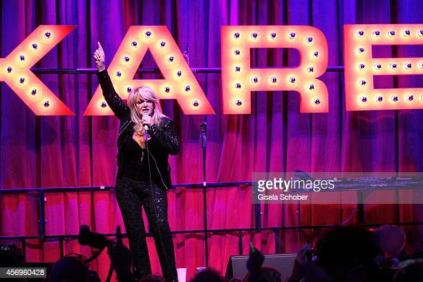 Bonnie Tyler sings during the grand opening of KARE Kraftwerk on October 9 2014 in Munich Germany