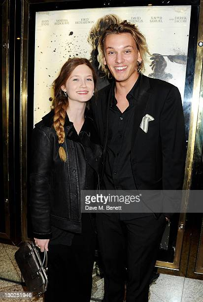 Bonnie Wright and Jamie CampbellBower attend the premiere of 'Anonymous' during the 55th BFI London Film Festival at Empire Leicester Square on...