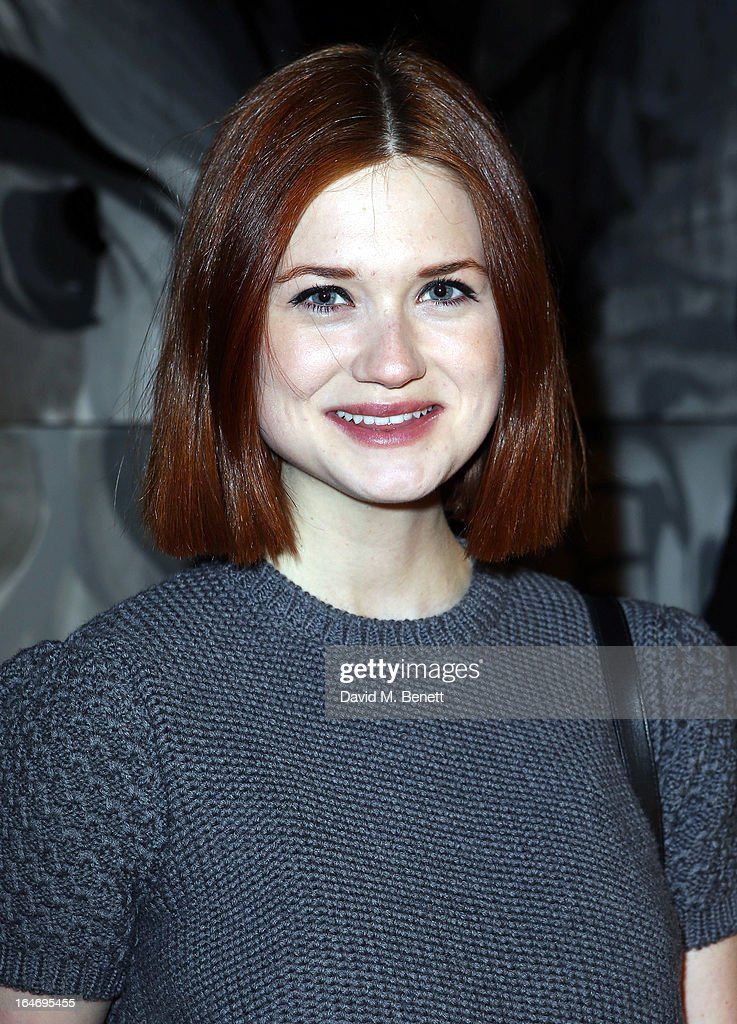 Bonnie Wright attends Esquire's 'The Big Black Book' launch party At Sushi Samba on March 26, 2013 in London England.